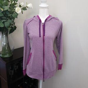 Columbia Purple Full Zip Tunic Hoodie